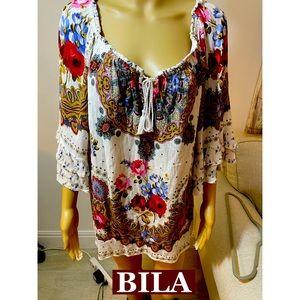BILA, Boho Floral Tunic Sz XXL NWOT